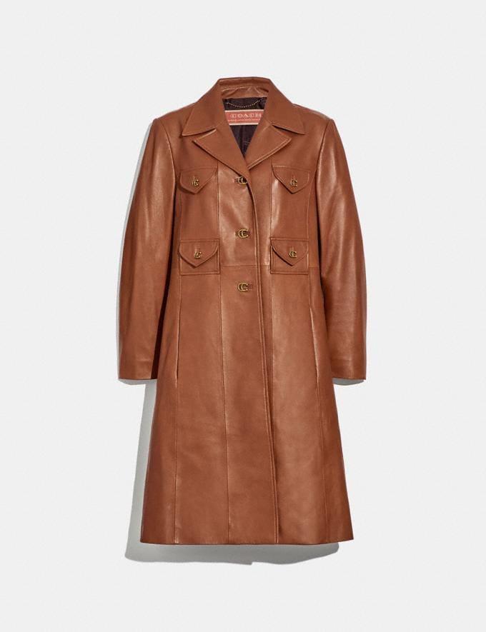 Coach Leather Coat Saddle