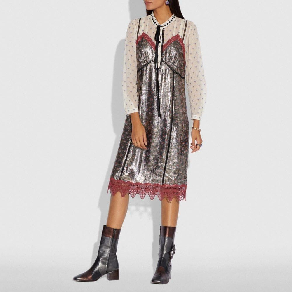 Coach Daisy Print Layered Slip Dress Alternate View 1