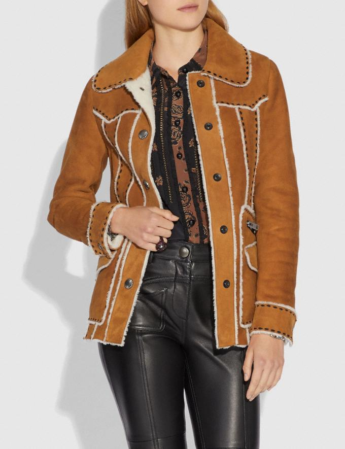 Coach Shearling Jacket Amber  Alternate View 1