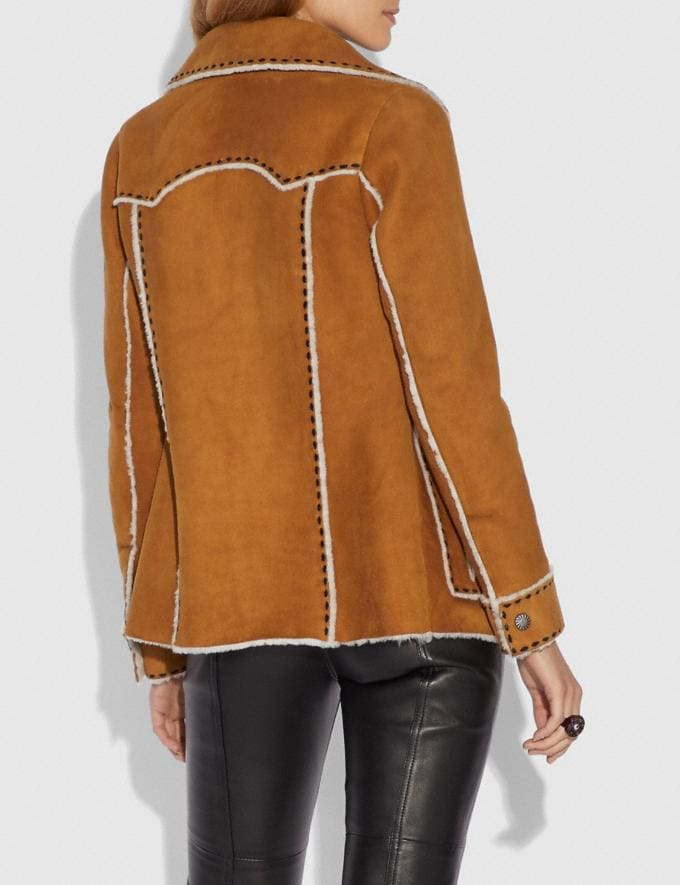 Coach Shearling Jacket Amber  Alternate View 2