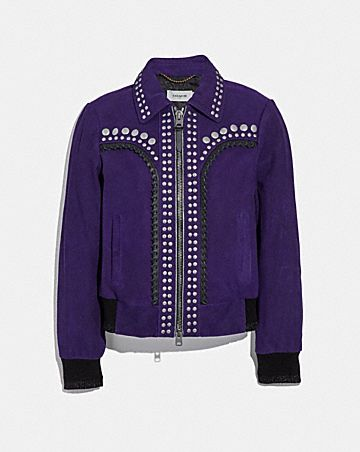STUDDED BANDANA JACKET