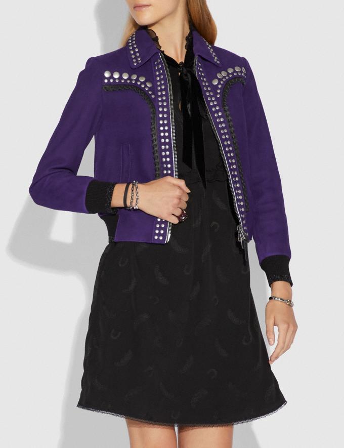 Coach Studded Bandana Jacket Dark Purple  Alternate View 1