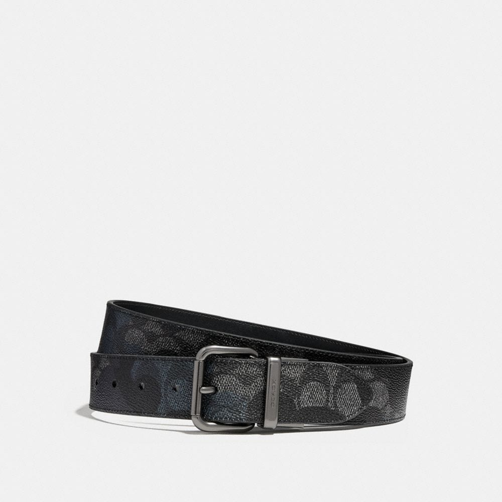 Coach Jeans Buckle Cut-To-Size Reversible Signature Wild Beast Print Belt