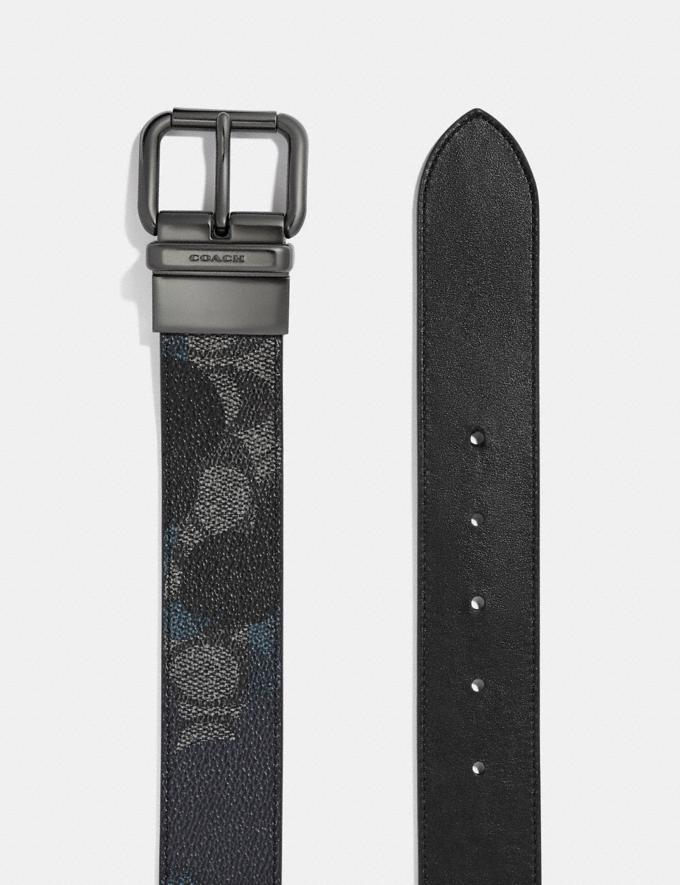Coach Jeans Buckle Cut-To-Size Reversible Signature Wild Beast Print Belt Charcoal Cyber Monday Alternate View 1