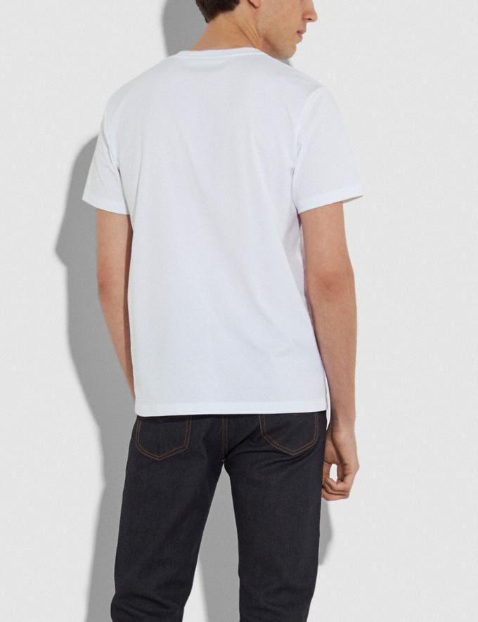 Coach Rainbow Signature Rexy T-Shirt White Men Ready-to-Wear Tops & Bottoms Alternate View 2