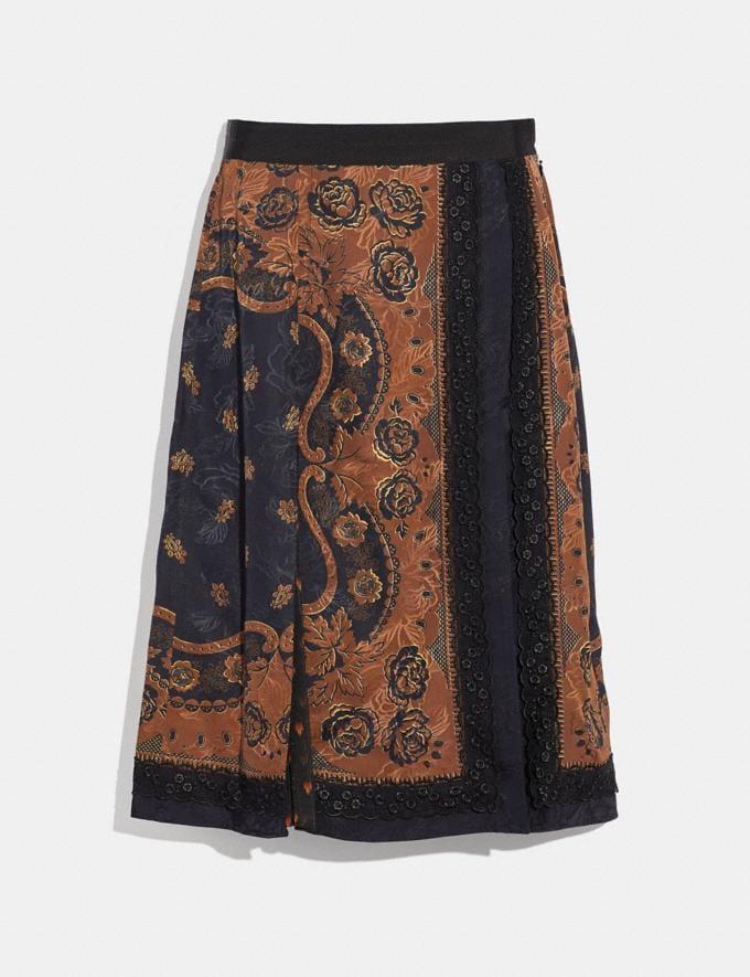 Coach Bandana Print Skirt Brown