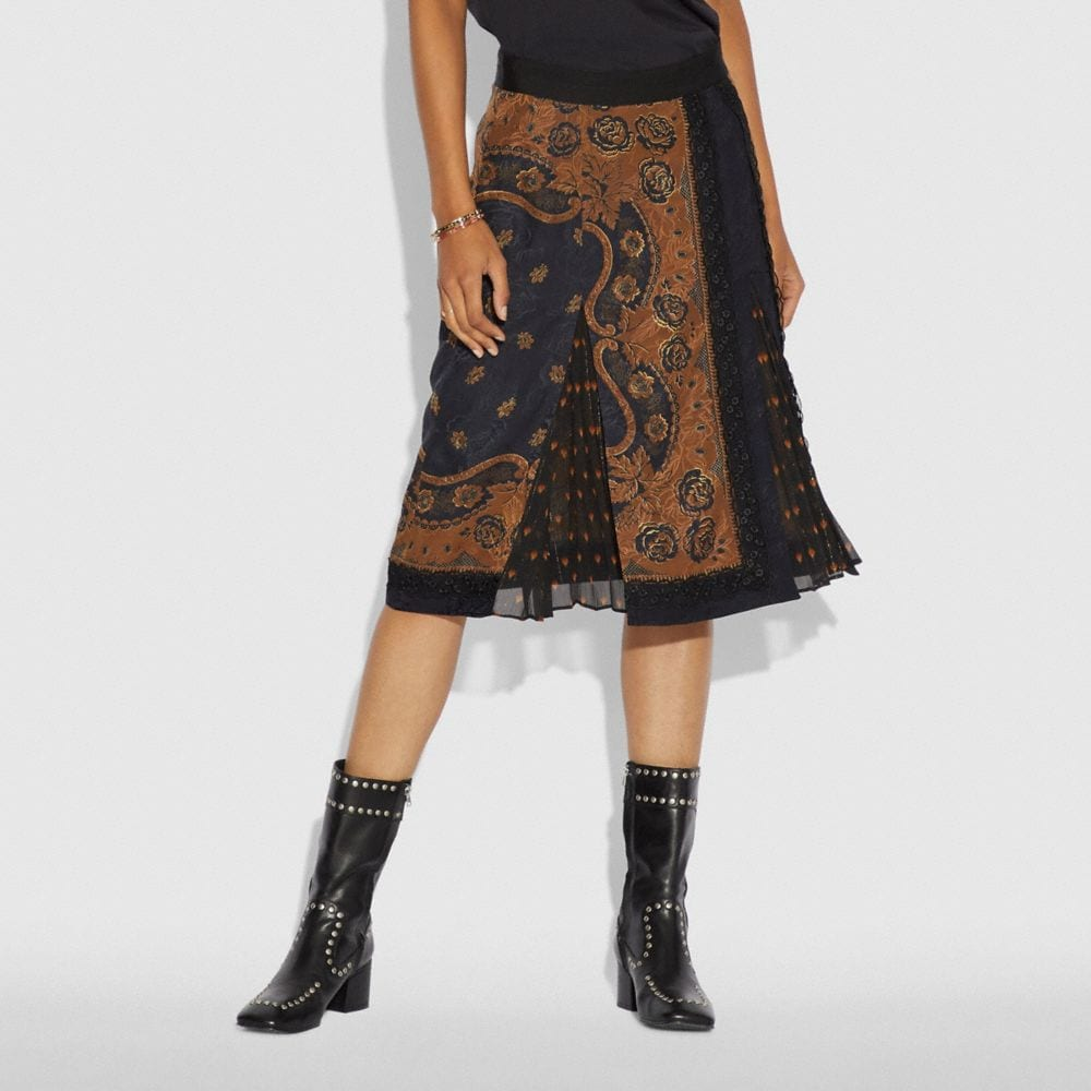 Coach Bandana Print Skirt Alternate View 1