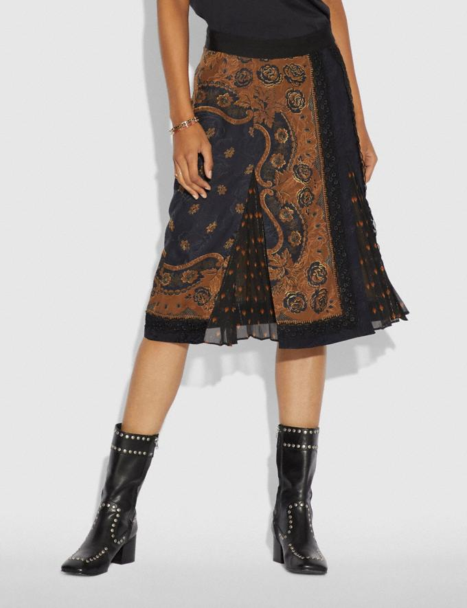 Coach Bandana Print Skirt Brown PRIVATE SALE For Her Ready-to-Wear Alternate View 1