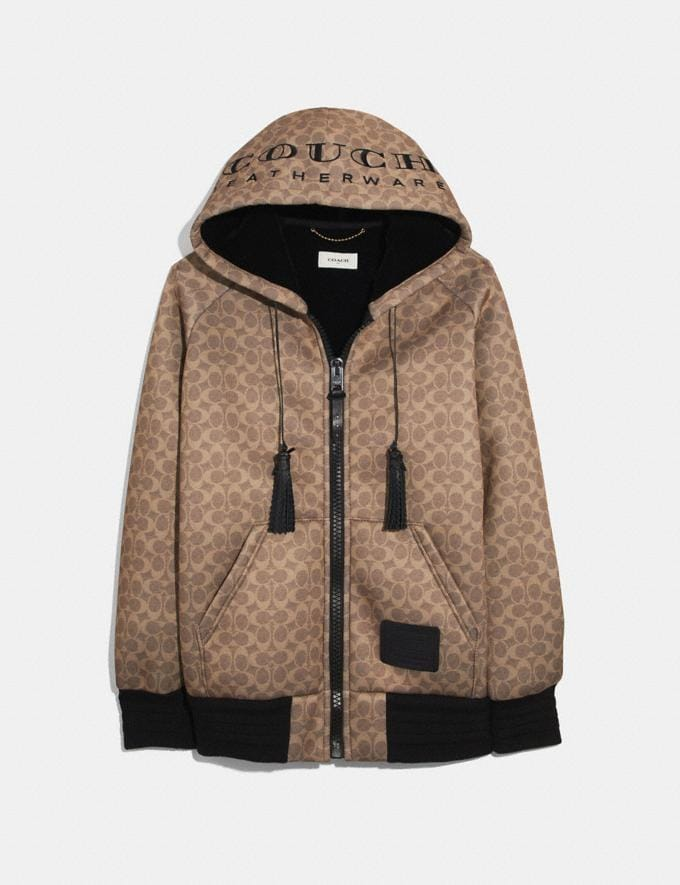 "Coach Signature Oversized ""Couch"" Hoodie Brown Multicolor Women Ready-to-Wear Tops"