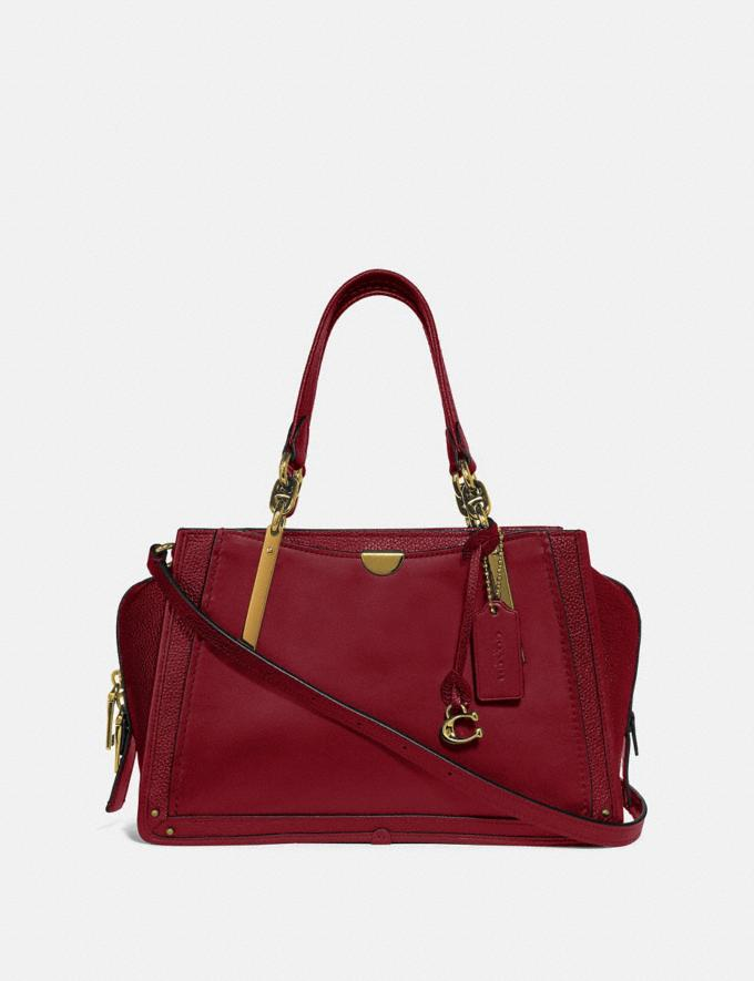 Coach Dreamer Brass/Deep Red New Featured Women New Top Picks