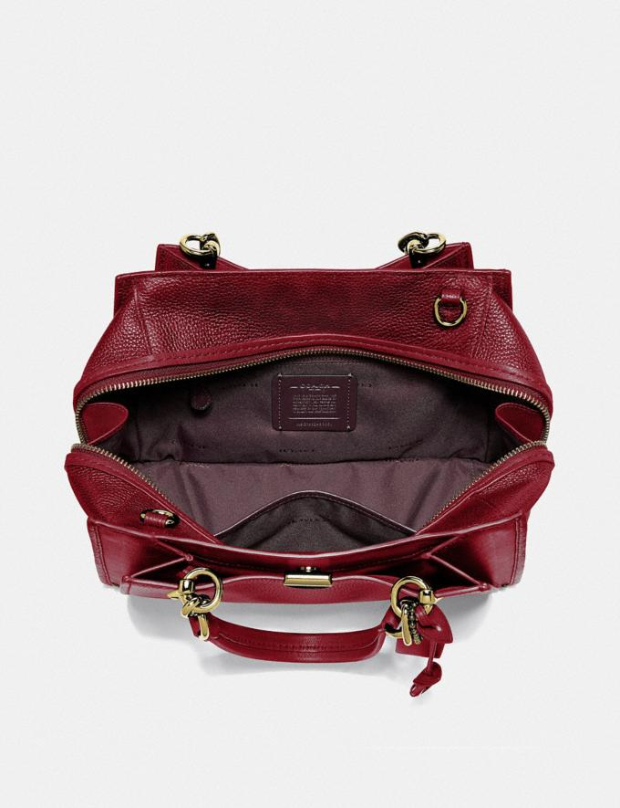 Coach Dreamer Brass/Deep Red New Featured Women New Top Picks Alternate View 2