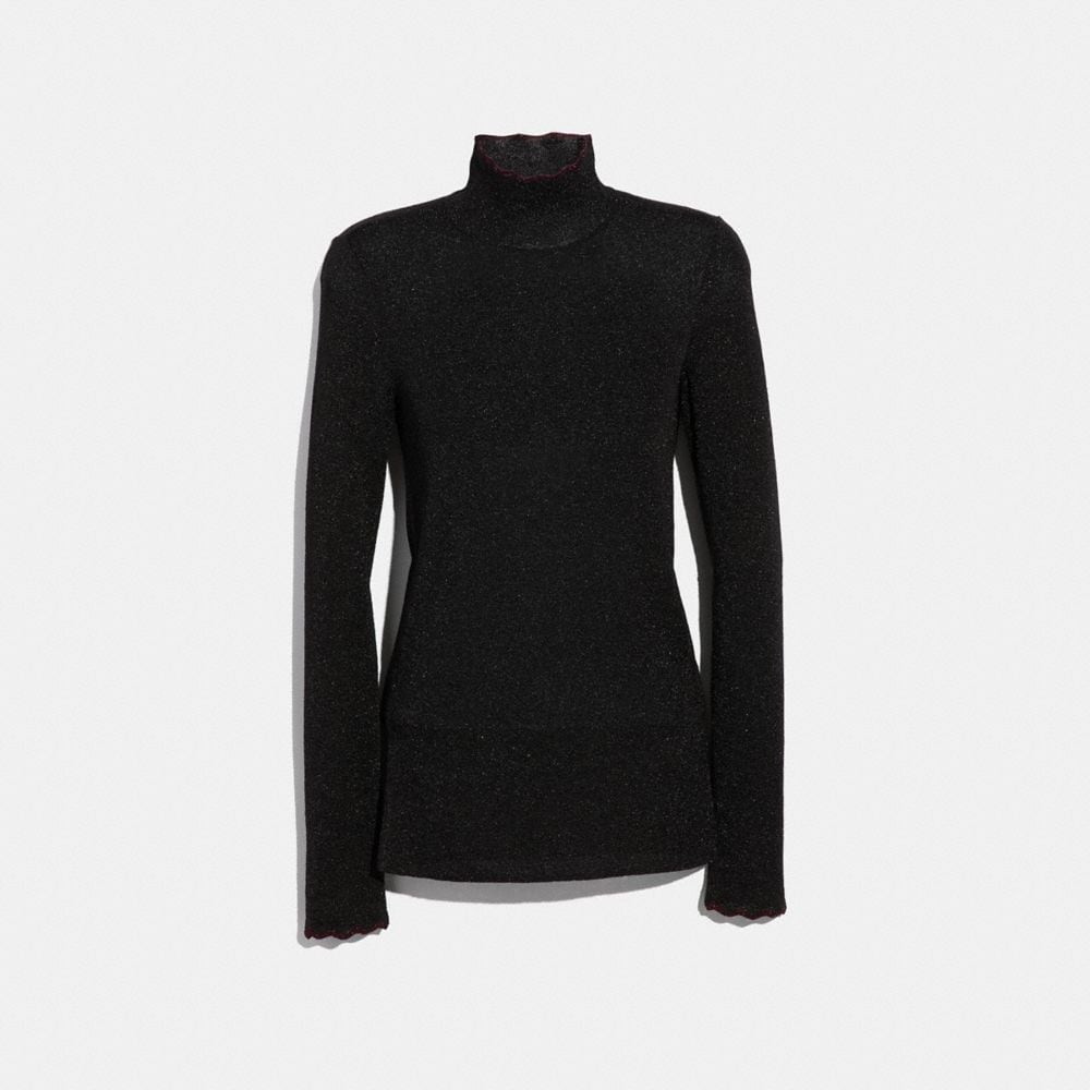 lurex turtleneck