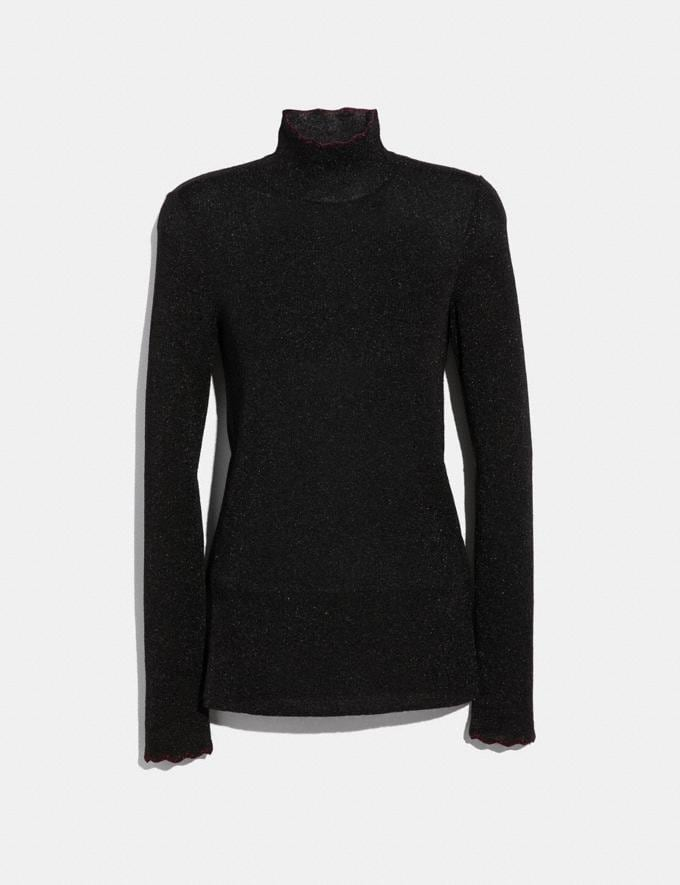 Coach Lurex Turtleneck Black Women Ready-to-Wear Tops