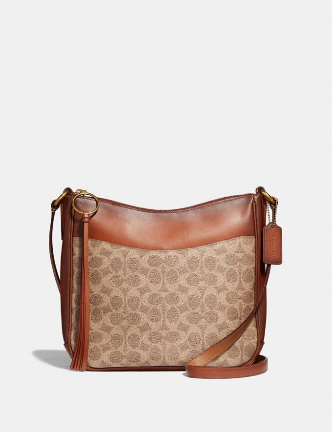 Coach Chaise Crossbody in Signature Canvas B4/Tan Rust New Women's New Arrivals