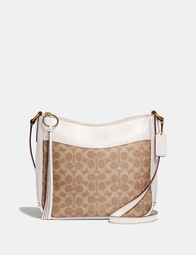 Coach Chaise Crossbody in Signature Canvas Tan/Chalk/Brass New Featured Online Exclusives