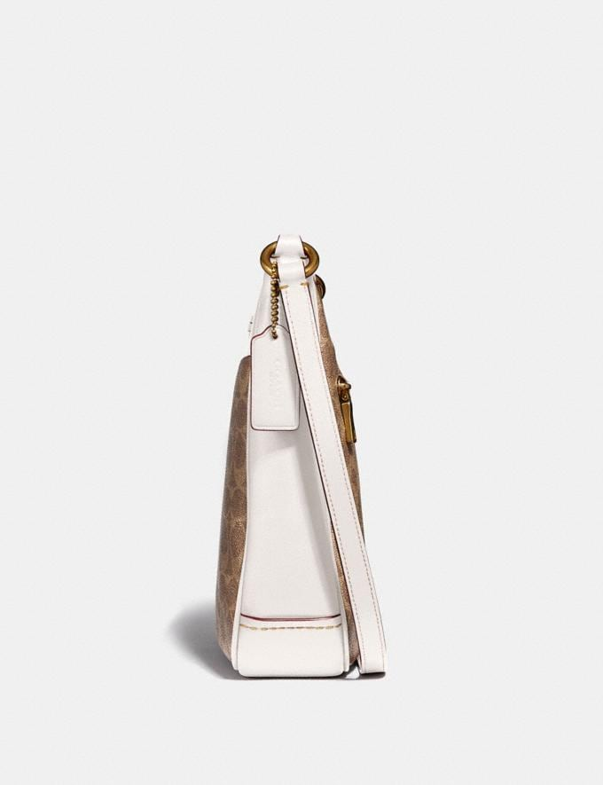 Coach Chaise Crossbody in Signature Canvas Tan/Chalk/Brass New Featured Online Exclusives Alternate View 1
