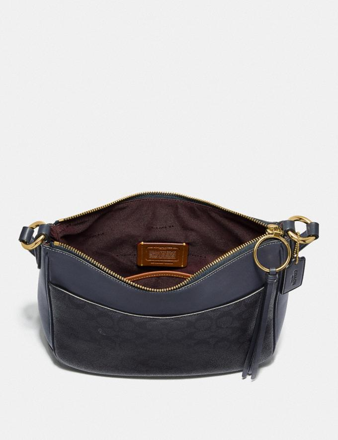 Coach Chaise Crossbody in Signature Canvas Charcoal/Midnight Navy/Gold New Featured Online Exclusives Alternate View 2