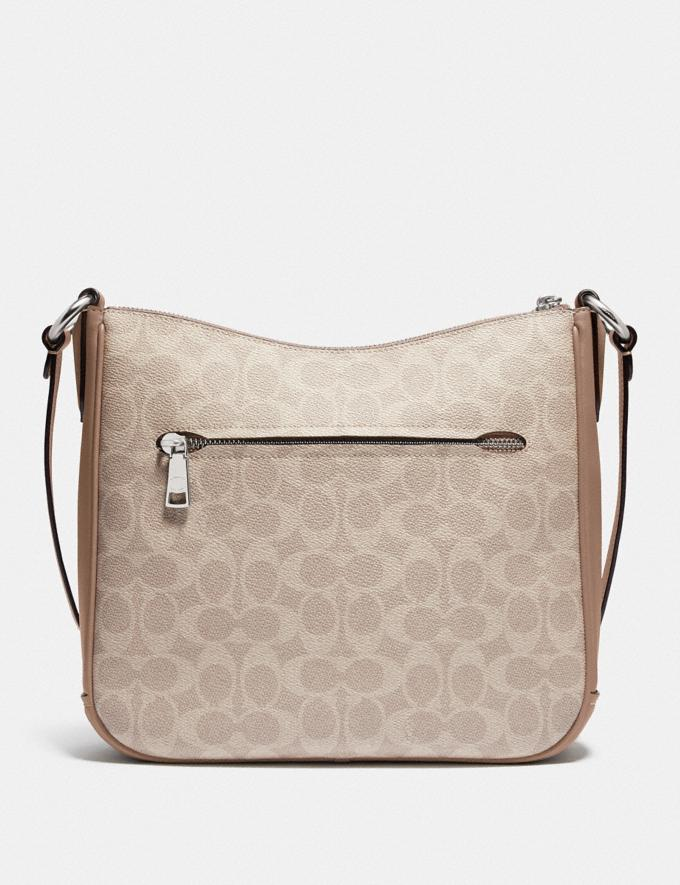 Coach Chaise Crossbody in Signature Canvas Silver/Sand Taupe  Alternate View 2