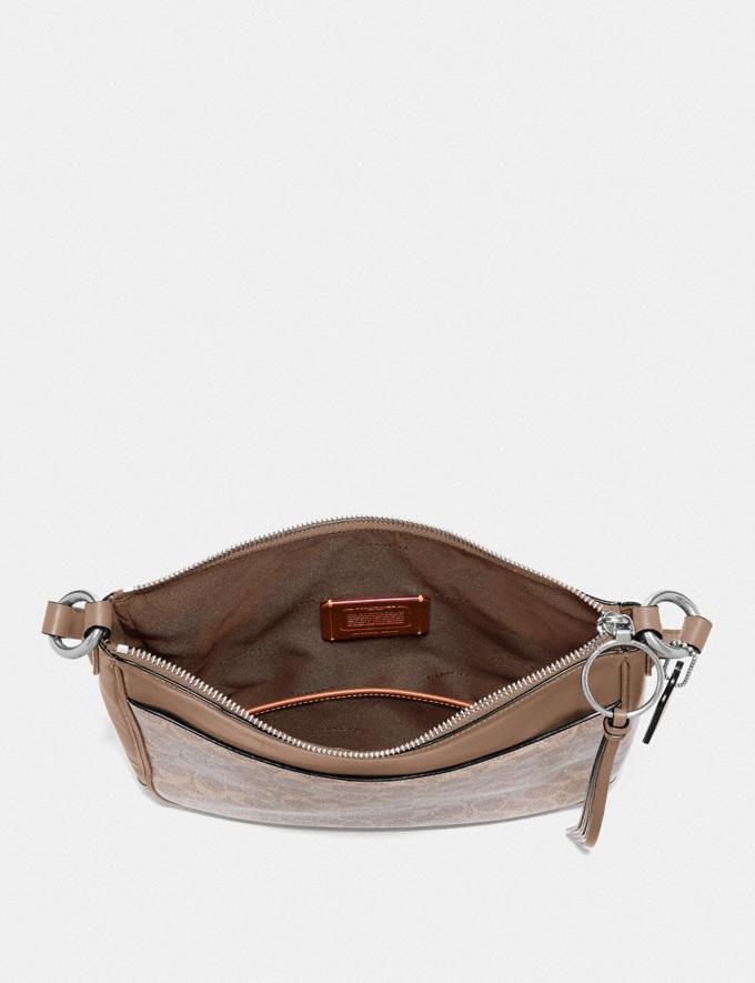 Coach Chaise Crossbody in Signature Canvas Silver/Sand Taupe  Alternate View 3