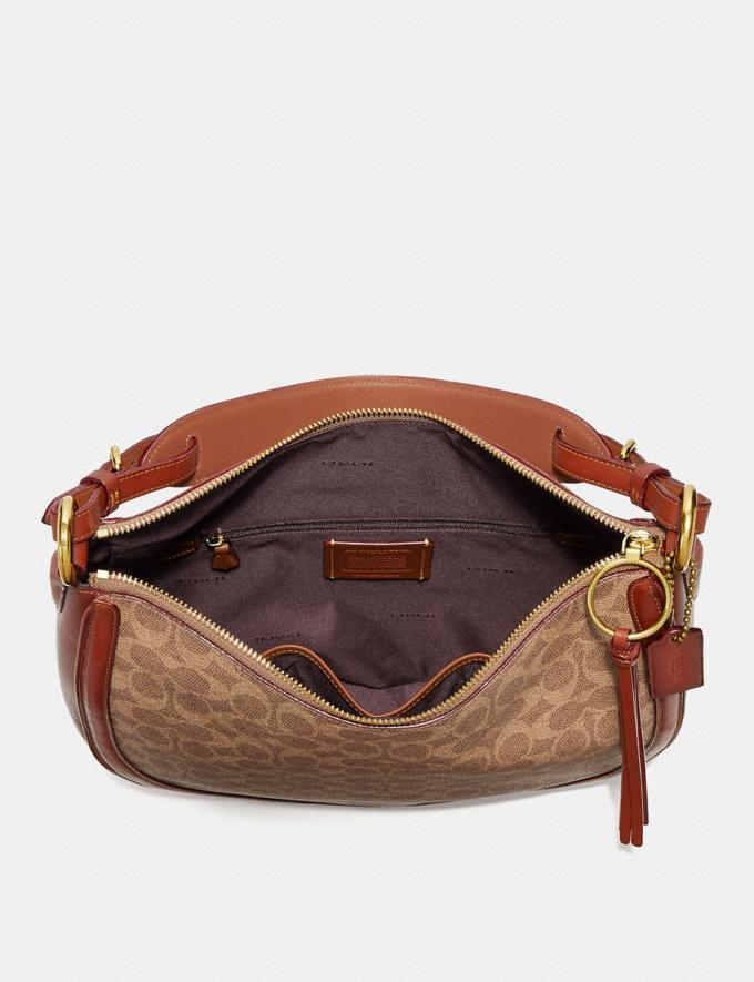 Coach Sutton Hobo in Signature Canvas Tan/Rust/Brass Women Bags Signature Bags Alternate View 2