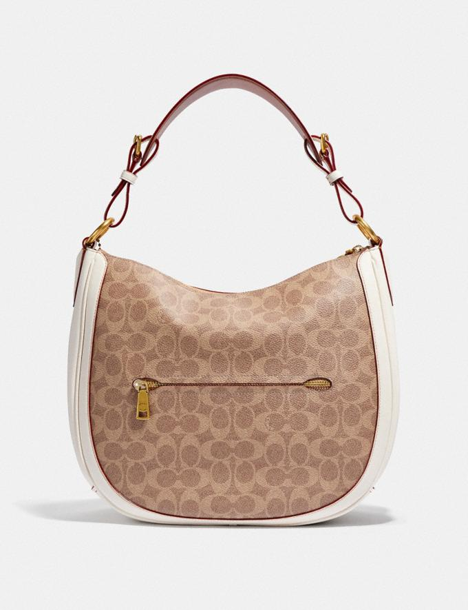Coach Sutton Hobo in Signature Canvas Tan/Chalk/Brass New Featured Online Exclusives Alternate View 2
