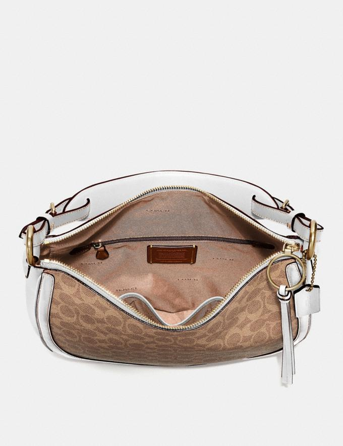 Coach Sutton Hobo in Signature Canvas Tan/Chalk/Brass New Featured Online Exclusives Alternate View 3
