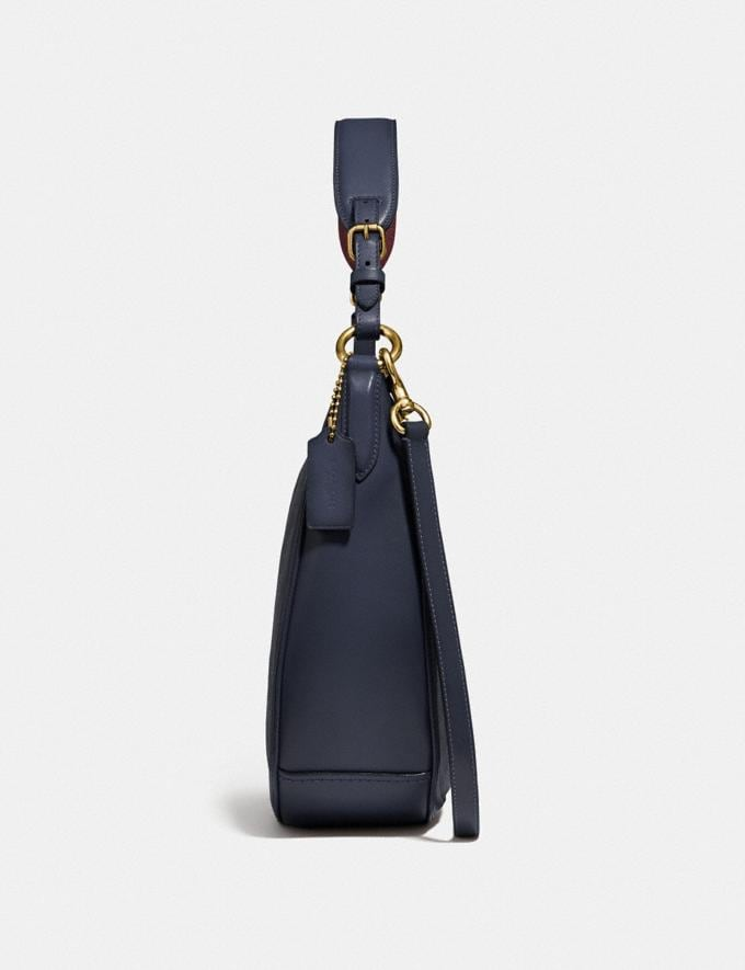 Coach Sutton Hobo in Signature Canvas Charcoal/Midnight Navy/Gold New Featured Online Exclusives Alternate View 1