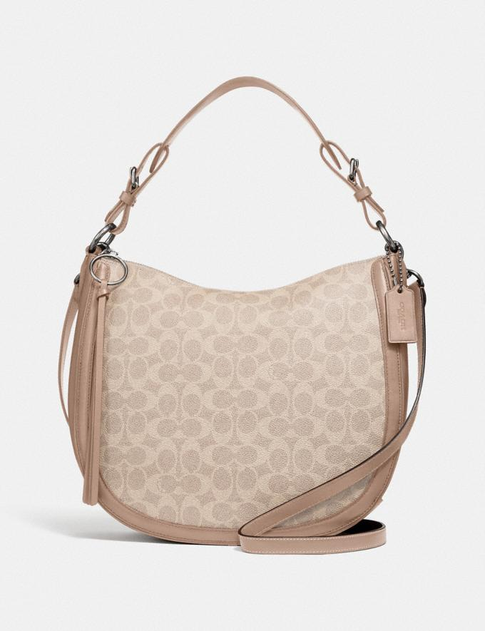 Coach Sutton Hobo in Signature Canvas Lh/Sand Taupe New Featured Signature Styles