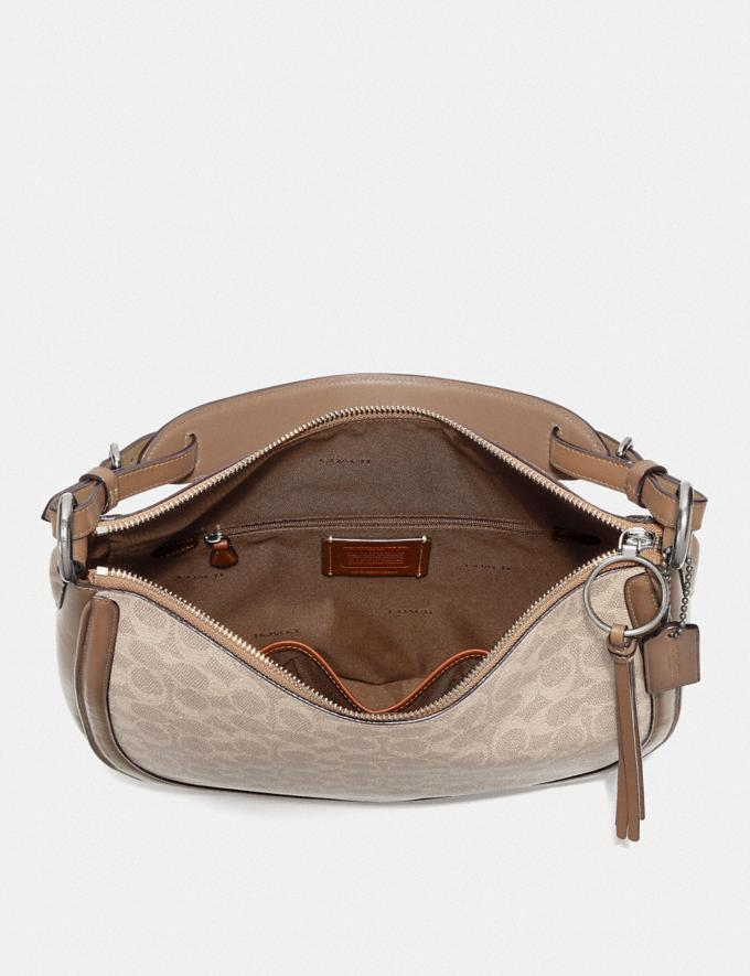 Coach Sutton Hobo in Signature Canvas Lh/Sand Taupe New Featured Signature Styles Alternate View 2