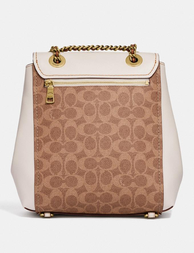 Coach Parker Convertible Backpack in Signature Canvas Tan/Chalk/Brass New Women's New Arrivals View All Alternate View 2