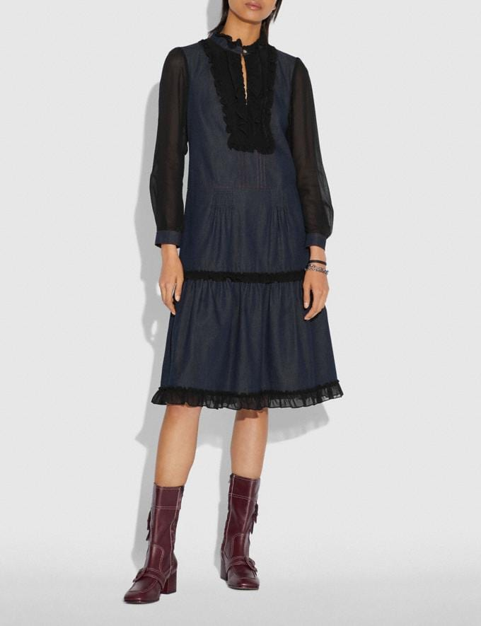 Coach Denim Dress Denim  Alternate View 1
