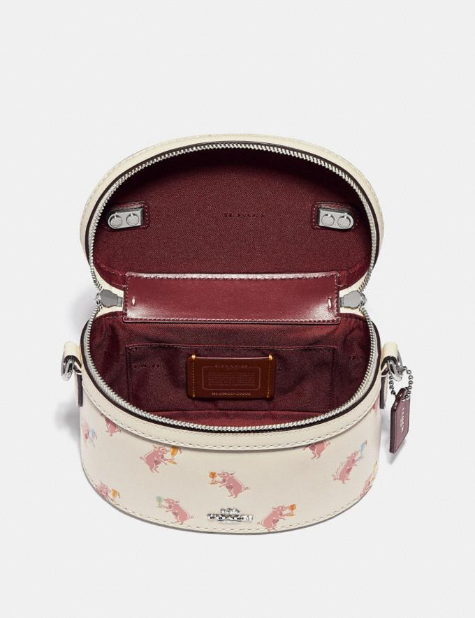 Coach Trail Bag With Party Pig Print Chalk/Silver CYBER MONDAY SALE Women's Sale Bags Alternate View 2