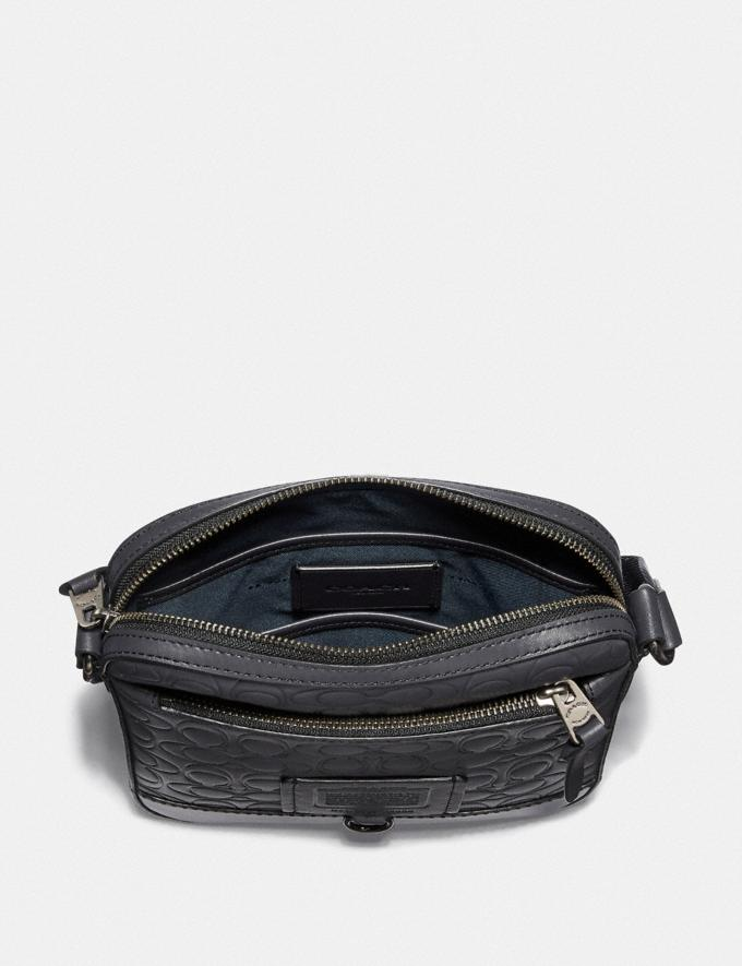 Coach Rivington Crossbody in Signature Leather Midnight Navy/Black Copper Finish Women Collection Signature Styles Alternate View 1