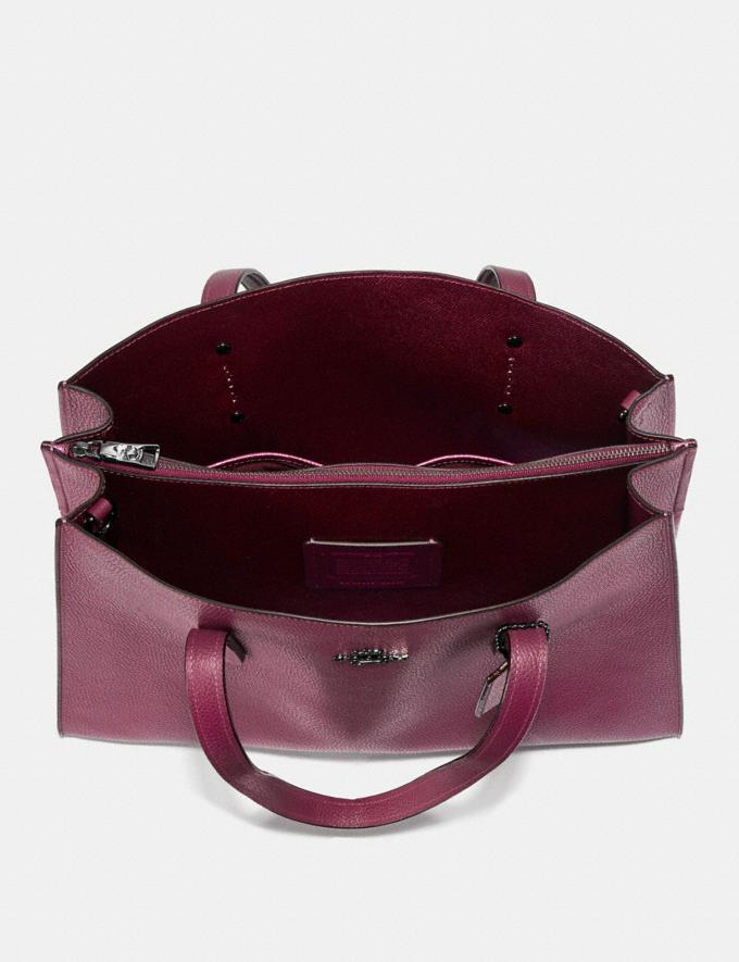 Coach Charlie Carryall With Metallic Interior Dark Berry/Gunmetal Women Bags Satchels Alternate View 2