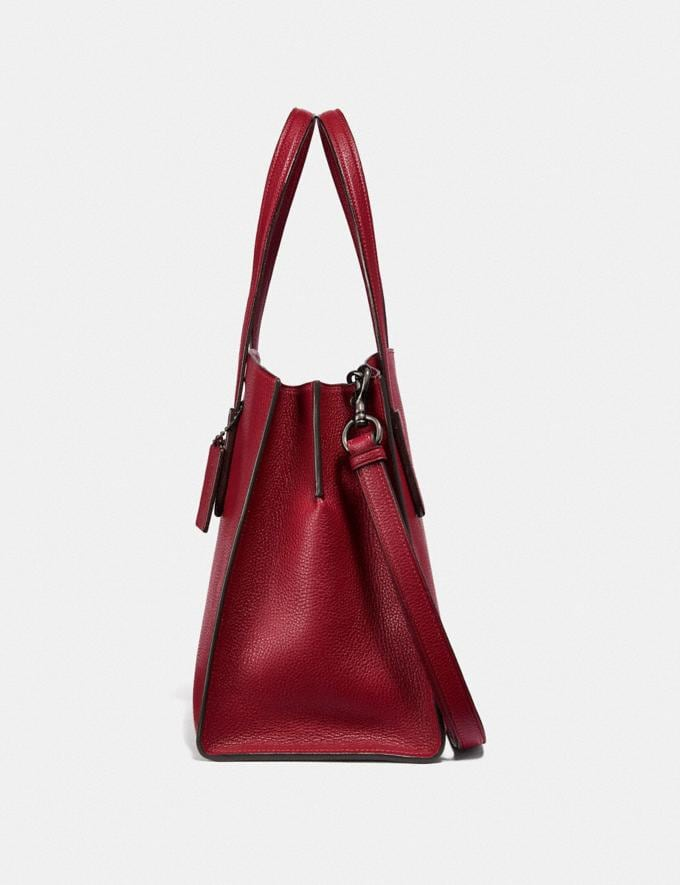 Coach Charlie Carryall With Metallic Interior Gm/Deep Red Women Bags Satchels Alternate View 1