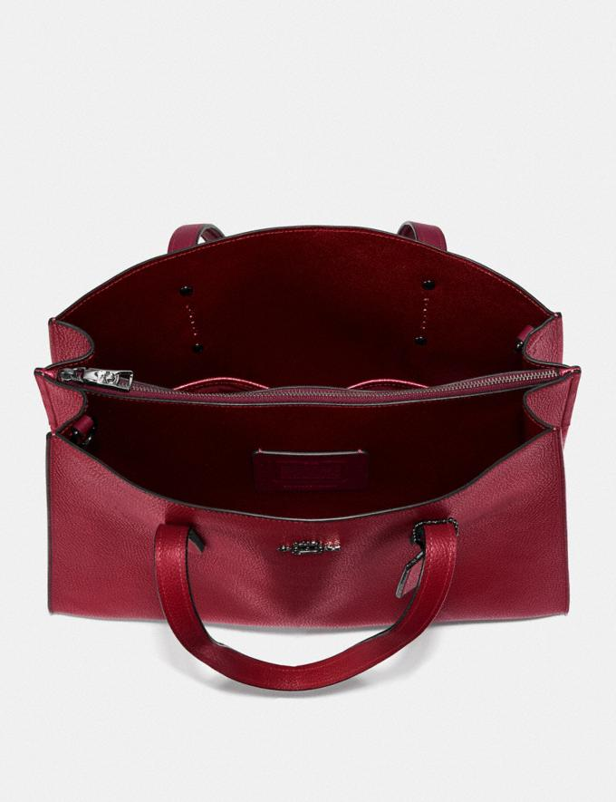 Coach Charlie Carryall With Metallic Interior Gm/Deep Red Women Bags Satchels Alternate View 3