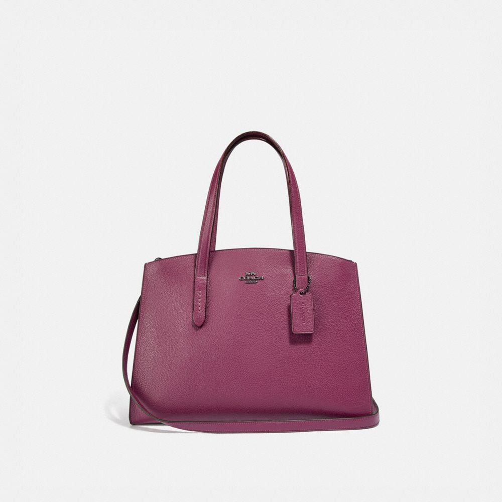 Coach Charlie Carryall With Metallic Interior