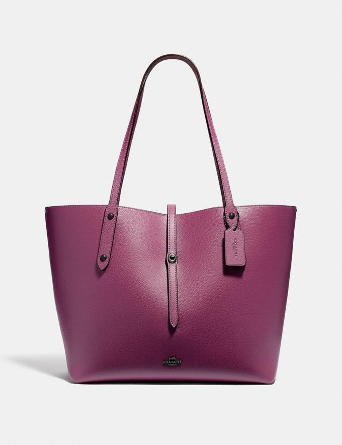 895cd982a Coach Market Tote With Party Mouse Print Interior Dark Berry/Gunmetal Women Bags  Totes