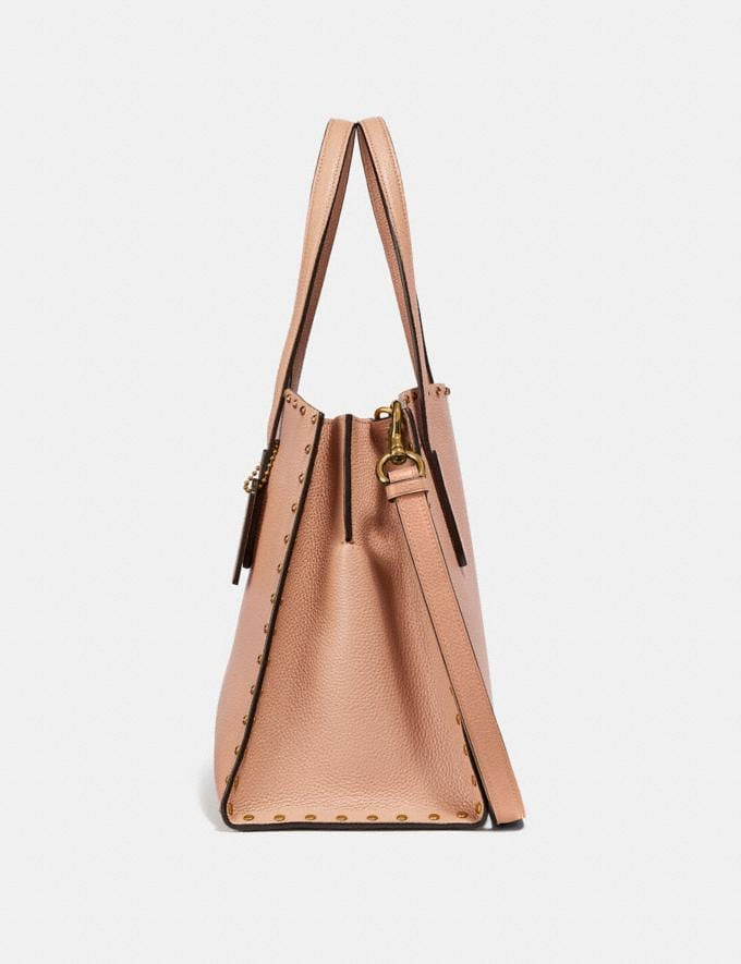 Coach Charlie Carryall With Crystal Rivets Nude Pink/Brass Women Bags View All Alternate View 1
