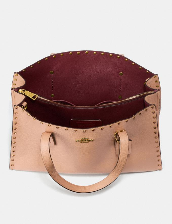 Coach Charlie Carryall With Crystal Rivets Nude Pink/Brass Women Bags View All Alternate View 2