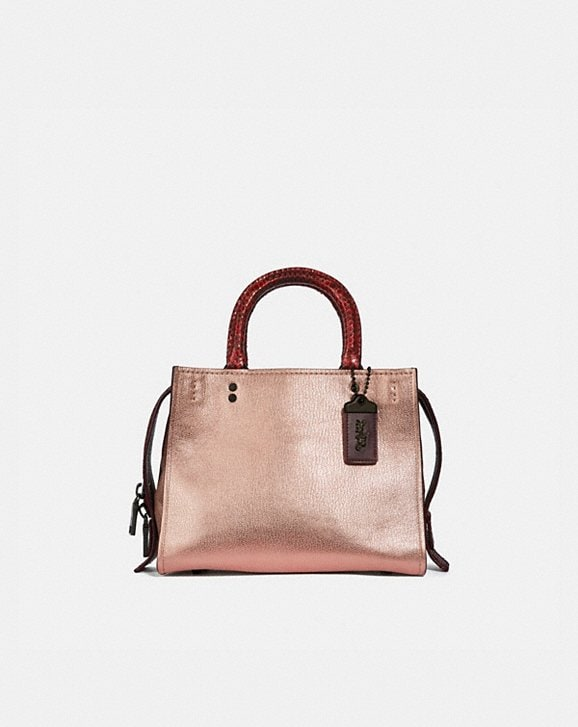 Coach ROGUE 25 IN COLORBLOCK WITH SNAKESKIN DETAIL
