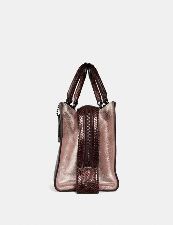 Coach Rogue 25 in Colorblock With Snakeskin Detail Metallic Rose Gold/Pewter Women Collection Rogue Alternate View 1