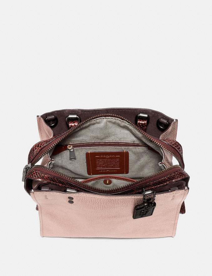 Coach Rogue 25 in Colorblock With Snakeskin Detail Metallic Rose Gold/Pewter Women Collection Rogue Alternate View 2