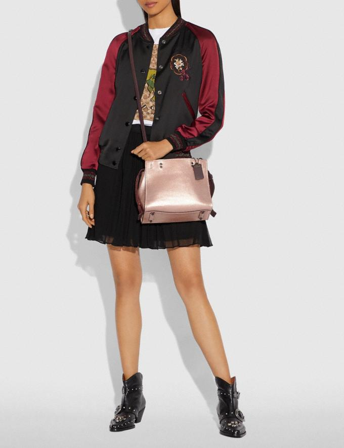 Coach Rogue 25 in Colorblock With Snakeskin Detail Metallic Rose Gold/Pewter Women Collection Rogue Alternate View 4
