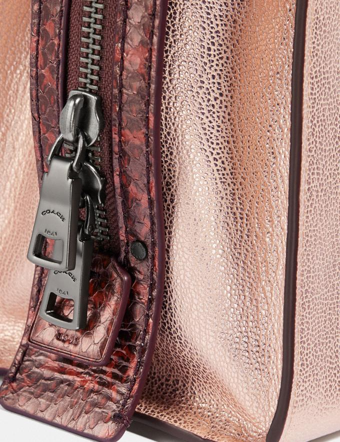 Coach Rogue 25 in Colorblock With Snakeskin Detail Metallic Rose Gold/Pewter Women Collection Rogue Alternate View 5