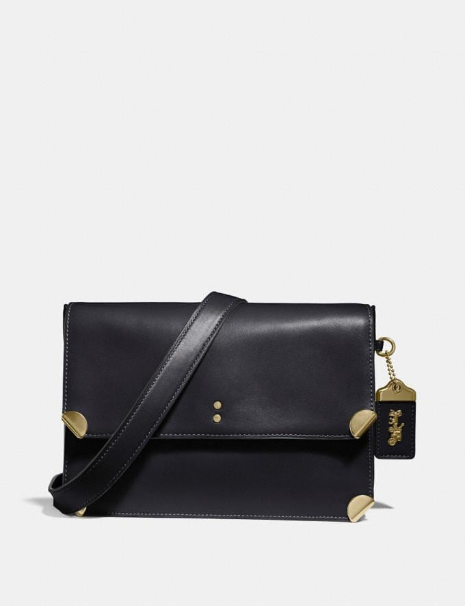 Coach Cooper Shoulder Bag Black/Brass Gifts For Her Luxe Gifts