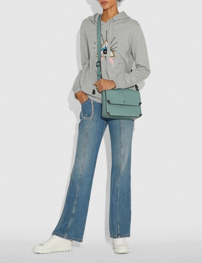 Coach Cooper Shoulder Bag Sage/Pewter Women Bags Alternate View 3