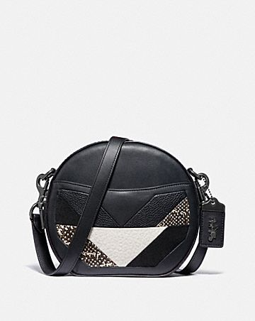 Can Crossbody With Patchwork And Snakeskin Detail
