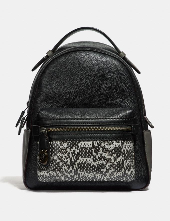 53eb1afa807 Coach Campus Backpack 23 in Colorblock With Snakeskin Detail Black  Multi Pewter Women Bags Backpacks
