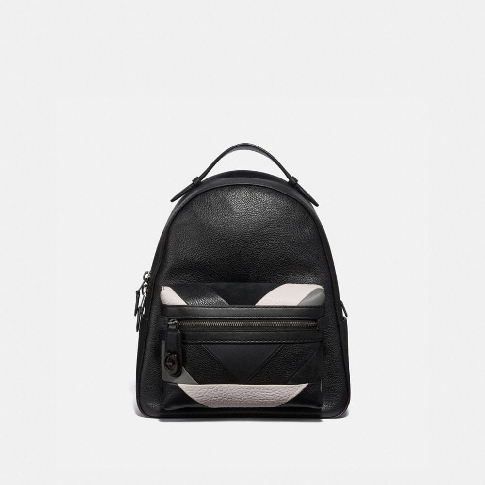 campus backpack with patchwork